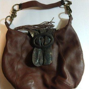 Chi by Falchi Hobo Purse – Brown Leather/S…
